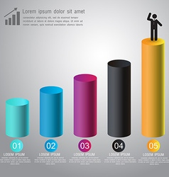Abstract 3D digital graph infographic for business vector image vector image