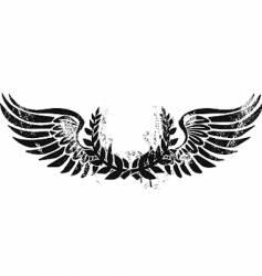army laurel emblem vector image vector image