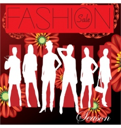 fashion cover vector image vector image