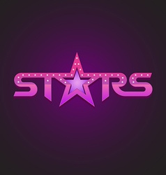 Stars logotype fashion style concept vector image vector image