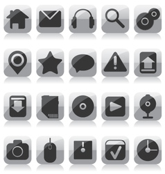 Web glass icons vector image vector image