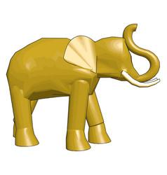 3d model elephant on white background vector image