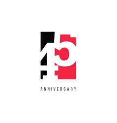 45 years anniversary celebration logo template vector