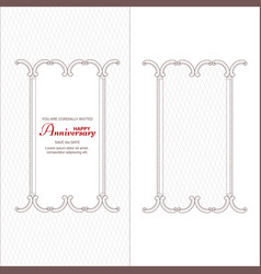 a set of two vintage vertical frames for an vector image
