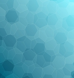 Abstract blue background with hexagons vector
