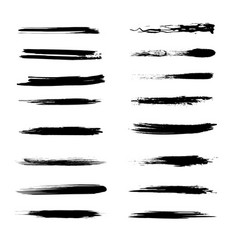 abstract grunge brush lines set vector image