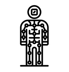 Ai humanoid icon outline style vector