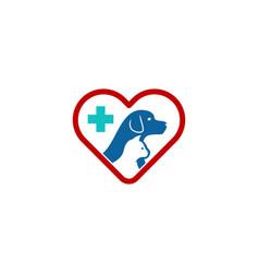 animal care logo icon design vector image