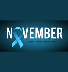 Banner for prostate cancer awareness month in vector