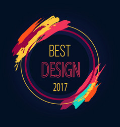 Best design 2017 round frame border art brush vector
