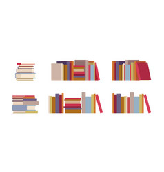 Book piles set vector