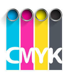 Bucket of paint cmyk color scheme for the vector