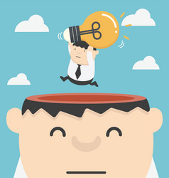 businessman having unieque creative idea vector image