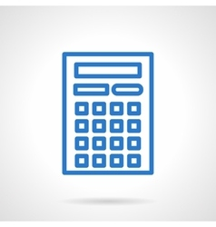 Calculator icon blue simple line style vector image