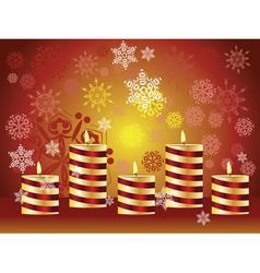 Candle and Snowflakes3 vector