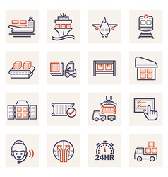cargo logistics icon vector image