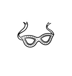 Carnival mask hand drawn sketch icon vector