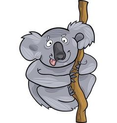 cartoon illustration of funny australian koala vector image
