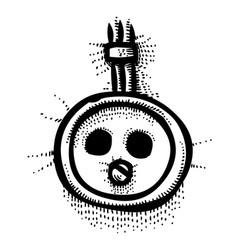 Cartoon image of socket icon rosette symbol vector