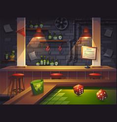 Cartoon saloon with game vector