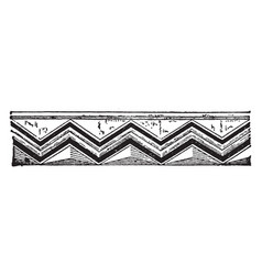 Chevron molding seam construction vintage vector
