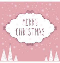 Christmas Greeting Card Christmas background with vector image