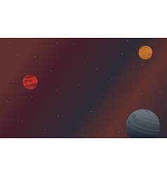 Collection of space nature landscape vector image