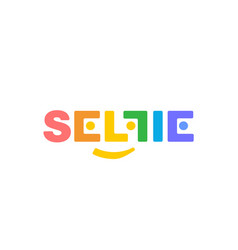 color logo soft corners selfi on a white vector image