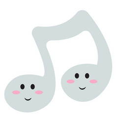 cute music note on white background vector image