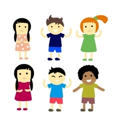 Different kids vector image