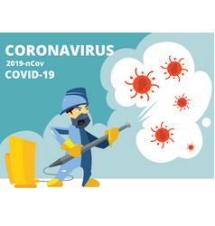 disinfection coronavirus covid19 19 virus vector image