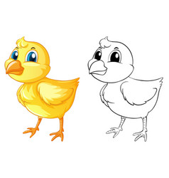 doodle animal for little chick vector image