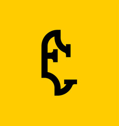 E letter old russian font national folk alphabet vector