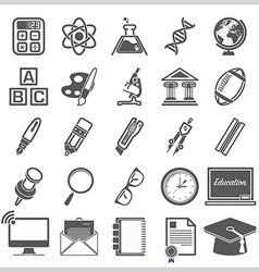 Education and learning sign symbol icon set vector