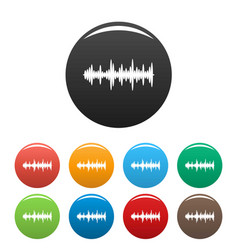 equalizer tune icons set color vector image