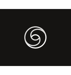 Eye swirl spiral infinity logo symbol design vector