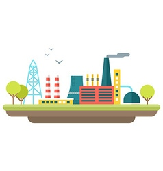 Factory concept Flat style Industrial landscape vector image