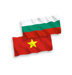 Flags vietnam and bulgaria on a white vector