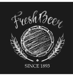 Fresh beer chalk badge vector