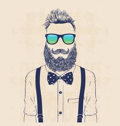 Gentleman hipster vector