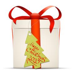 Gift box label 2020 vector