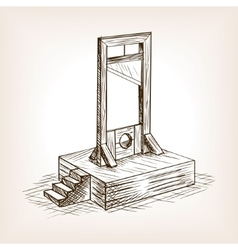 Guillotine sketch style vector image