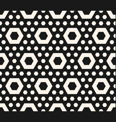 hexagonal texture geometric seamless pattern vector image