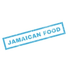 Jamaican food rubber stamp vector
