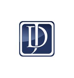 jd letter logo vector image