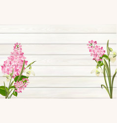 Lilac background for your design flower leaves on vector