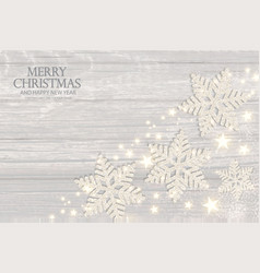 merry christmas elegant background with silver vector image