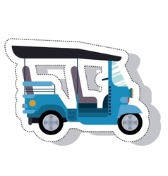 moto taxi service isolated icon vector image