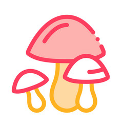 mushrooms icon outline vector image