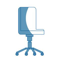 Office chair comfort wheel elegant equipment vector